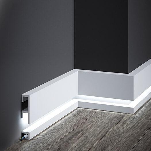 Listwy przypodłogowe z oświetleniem LED